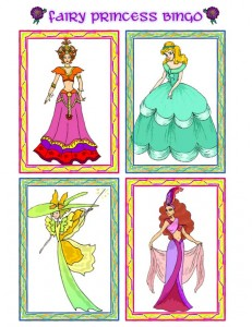Princess Picture Bingo Calling Cards - 4