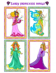 Princess Picture Bingo Calling Cards - 3