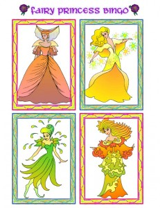 Princess Picture Bingo Calling Cards - 2