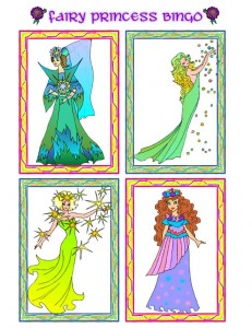 Princess Picture Bingo Calling Cards - 1