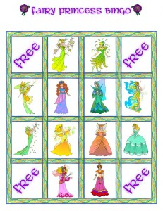 princess bingo card 3 231x300 Printable Princess Bingo Game
