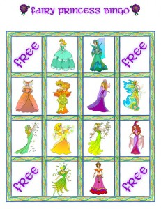 Fairy Princess Bingo Card 4