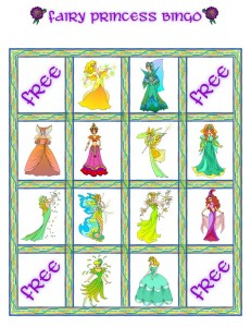 Fairy Princess Bingo Card 5