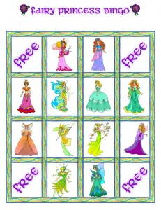 Fairy Princess Bingo Card 6