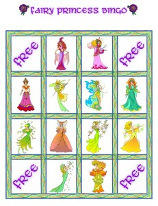 princess bingo card 7 231x300 Printable Princess Bingo Game