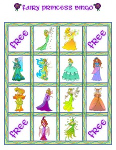 Fairy Princess Bingo Card 8