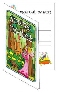 Free printable homemade princess party invitations