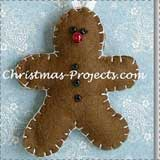 Gingerbread Man Felt Ornament