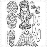 mermaid paper doll Fairy Tale Crafts for Kids