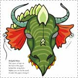 printable dragon masks Fairy Tale Crafts for Kids