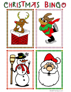 christmas bingo call card 1 231x300 Printable Christmas Bingo Game