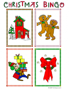 christmas bingo call card 3 231x300 Printable Christmas Bingo Game