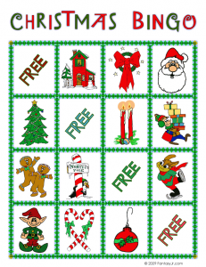 christmas bingo card 10 231x300 Printable Christmas Bingo Game