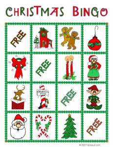 christmas bingo card 4 231x300 Printable Christmas Bingo Game