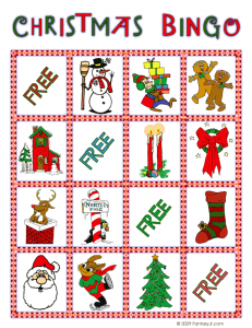 christmas bingo card 5 231x300 Printable Christmas Bingo Game