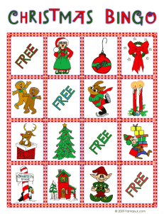 christmas bingo card 7 231x300 Printable Christmas Bingo Game