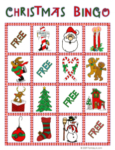 christmas bingo card 8 231x300 Printable Christmas Bingo Game