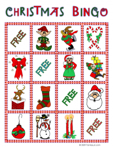 christmas bingo card 9 231x300 Printable Christmas Bingo Game
