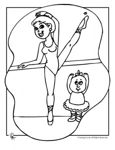 ballet class coloring page 231x300 Ballet Coloring Pages