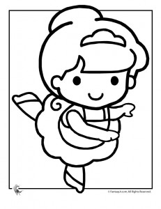 ballet coloring page 231x300 Ballet Coloring Pages