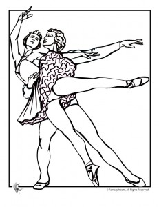 ballet couple coloring page 231x300 Ballet Coloring Pages
