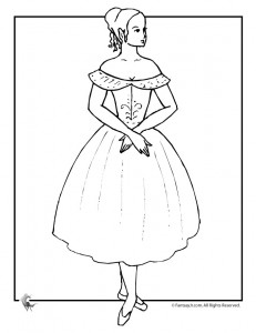 ballet dancer coloring page 231x300 Princess Coloring Pages for Kids