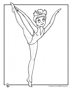cute ballerina coloring page 231x300 Ballet Coloring Pages