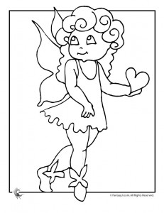 love fairy coloring page 231x300 Fairy Coloring Pages