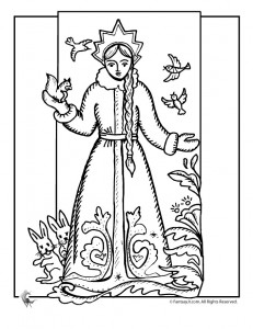 snow princess coloring 231x300 Princess Coloring Pages for Kids