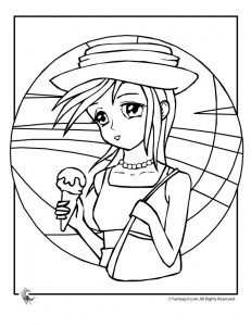 ice cream girl coloring 231x300 Ice Cream Coloring Pages