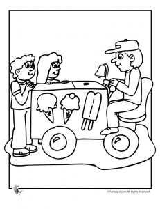 ice cream man coloring 231x300 Ice Cream Coloring Pages