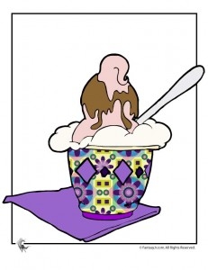 ice cream sundae girl 231x300 Ice Cream Party Games