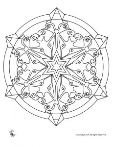 Free Kaleidoscope Coloring Pages | Free Printable Coloring Pages