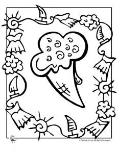 summer ice cream coloring 231x300 Ice Cream Coloring Pages