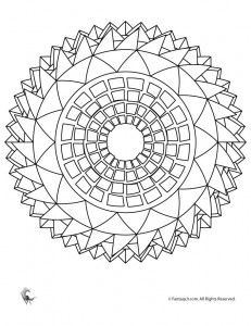 Craft Ideas Site on Sunflower Mandala Coloring Page