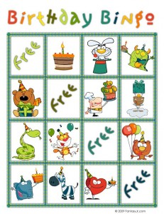 birthday bingo card 2 231x300 Printable Birthday Bingo Cards