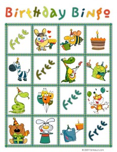 birthday bingo card 4 231x300 Printable Birthday Bingo Cards