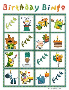 birthday bingo card 5 231x300 Printable Birthday Bingo Cards