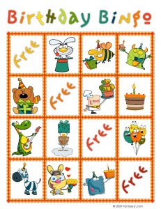 birthday bingo card 6 231x300 Printable Birthday Bingo Cards