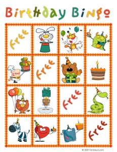 birthday bingo card 7 231x300 Printable Birthday Bingo Cards