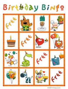 birthday bingo card 8 231x300 Printable Birthday Bingo Cards