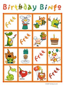 birthday bingo card 9 231x300 Printable Birthday Bingo Cards