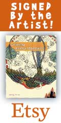 Buy a SIGNED copy of Coloring Animal Mandalas by Wendy Piersall