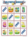 summer olympics bingo card  115x150 Printable Summer Olympics Bingo Game