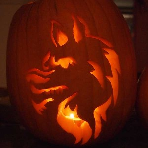 Scary Werewolf Halloween Pumpkin