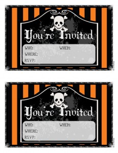 free halloween invitations 231x300 Free Printable Halloween Party Invitations for Kids & Teens