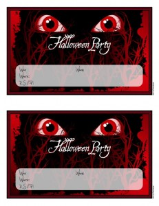 scary halloween invitation 231x300 Free Printable Halloween Party Invitations for Kids & Teens