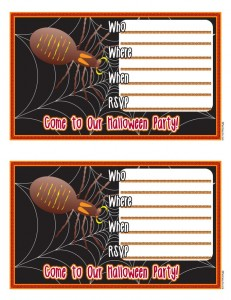 spooky halloween invitation 231x300 Free Printable Halloween Party Invitations for Kids & Teens