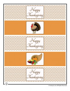 thanksgiving bottle wrappers 231x300 Happy Thanksgiving Printable Paper Decorations